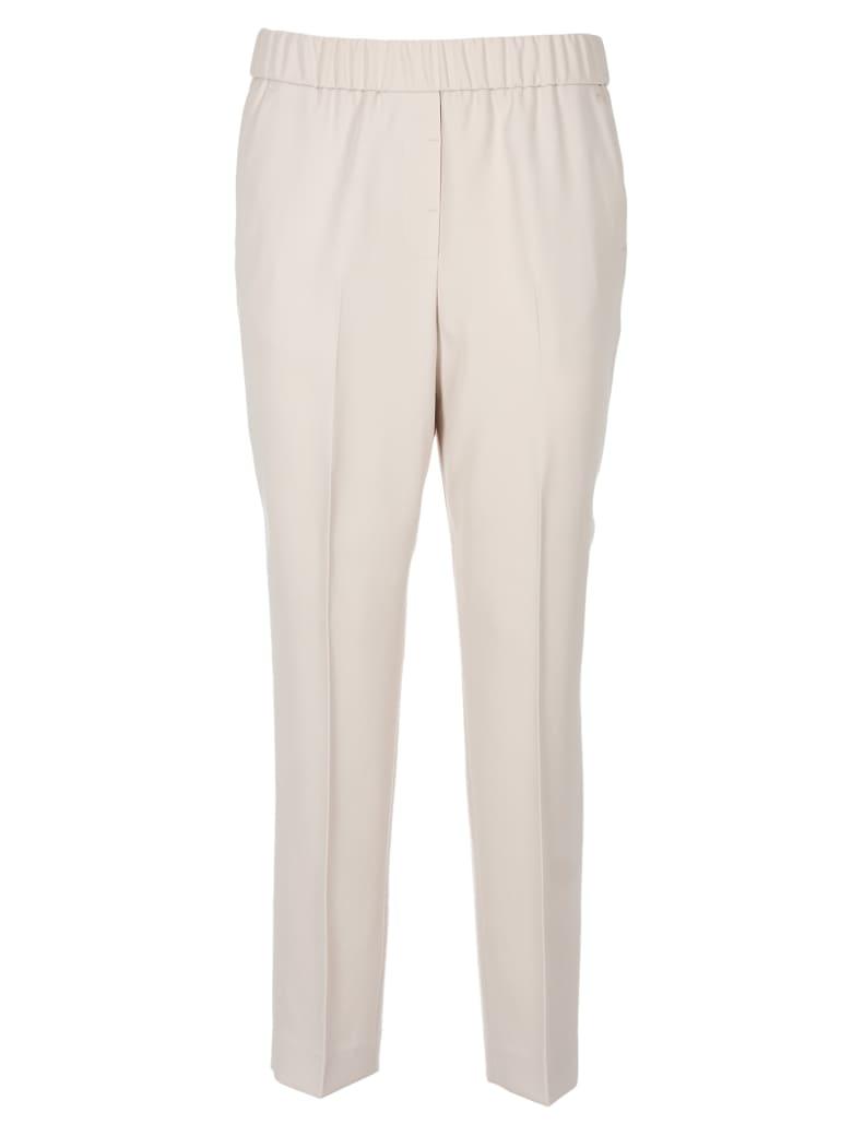 Peserico Elasticated Waist Trousers - Brown