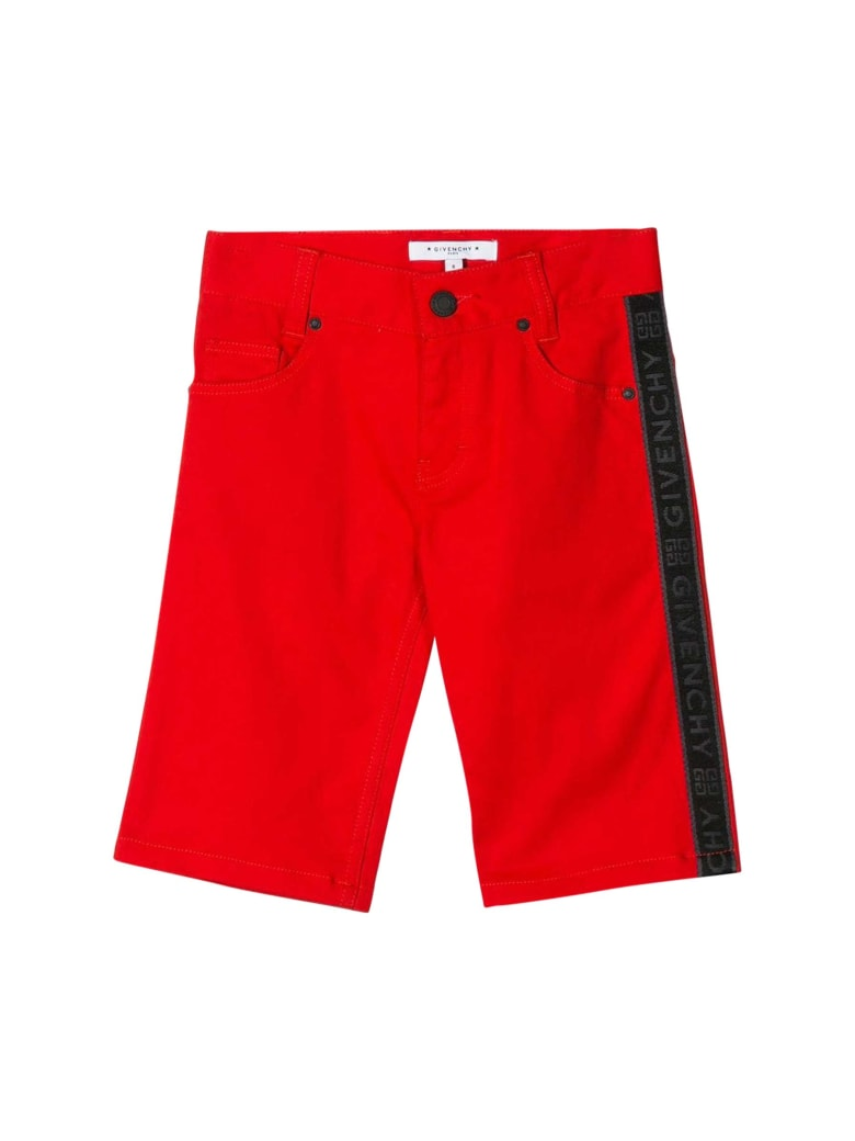 Givenchy Kids Logo Shorts - Rosso