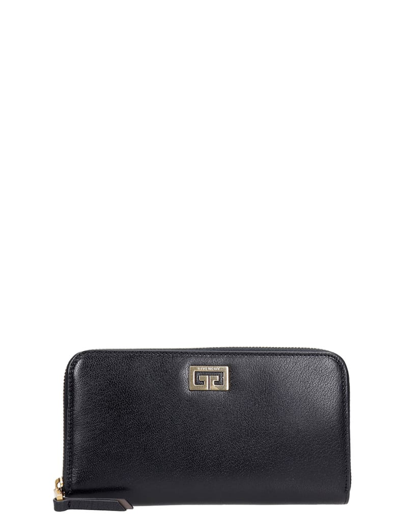 Givenchy Gv3 Zip Wallet Wallet In Black Leather - black