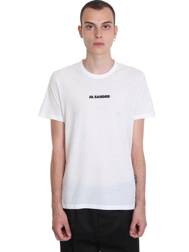 Jil Sander T-shirt In White Cotton - white