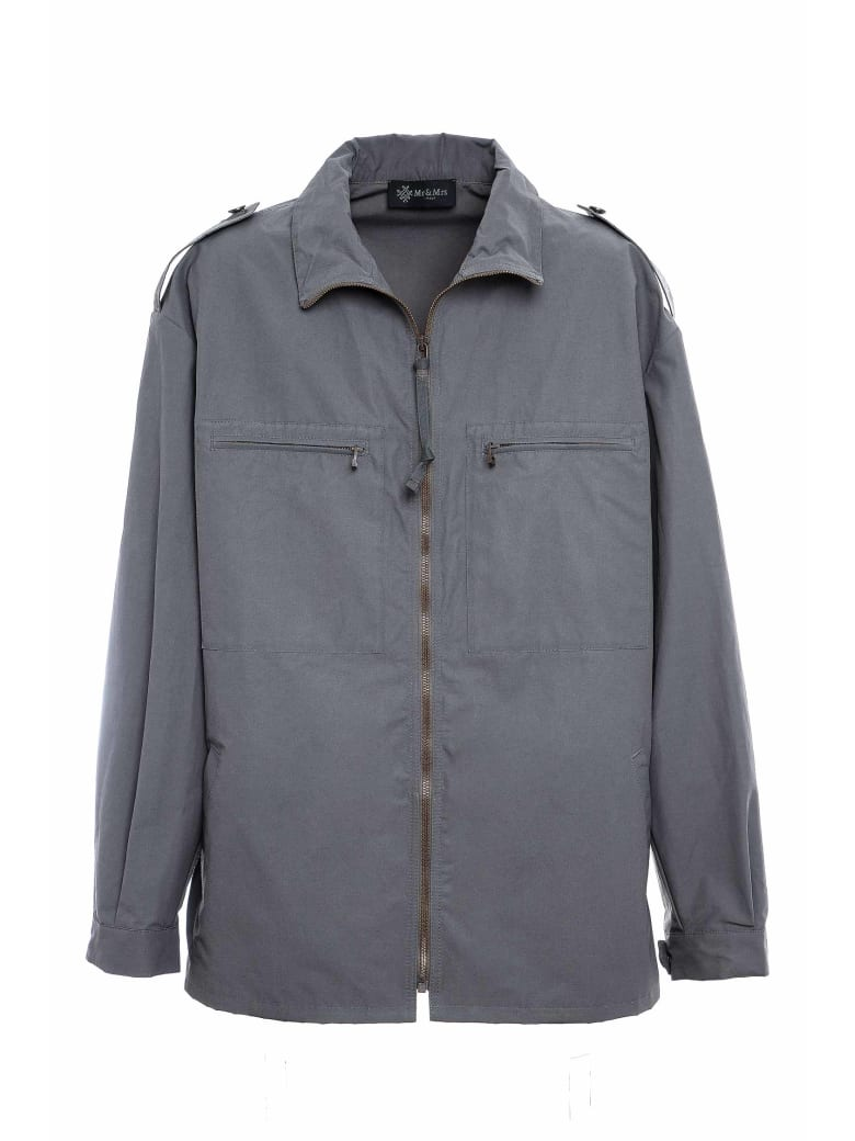 Mr & Mrs Italy Wr Technical Cotton Work Jacket For Man - VERDONE