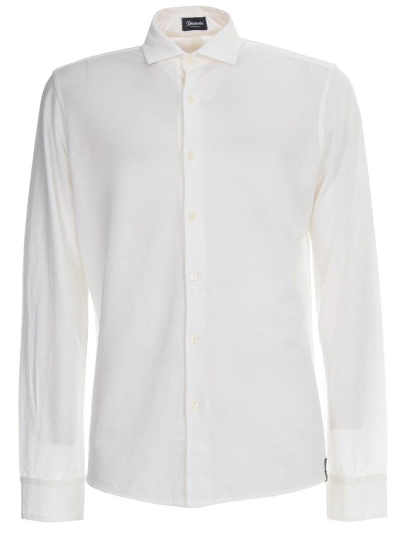 Drumohr Knitted Shirt Crepe - White
