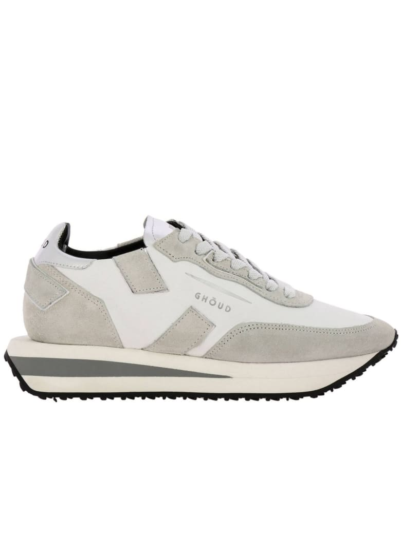 GHOUD Sneakers Rush X Ghoud Sneakers In Nylon And Suede With Laminated Leather Finishing And Maxi Bicolor Rubber Sole - white