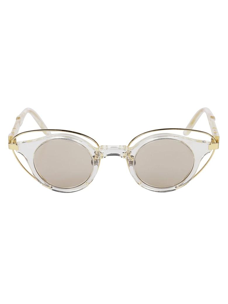 Kuboraum N10 Sunglasses - Gold/Transparent