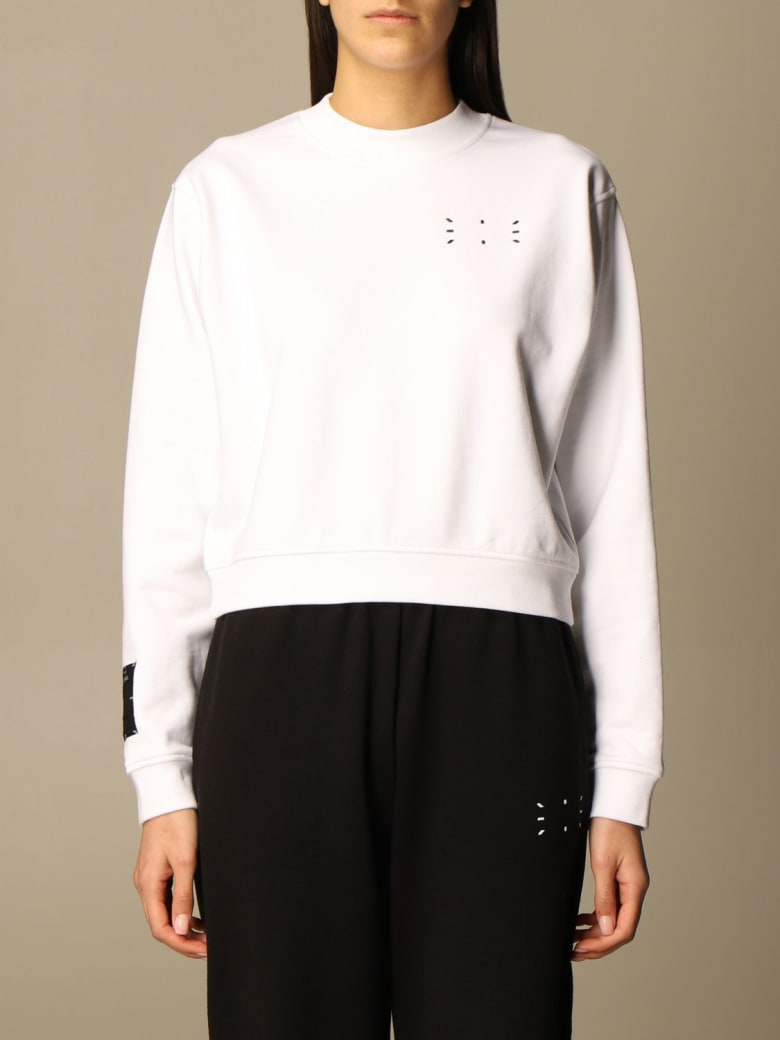 McQ Alexander McQueen Mcq Sweatshirt Mcq Crewneck Sweatshirt In Cotton With Logo - White