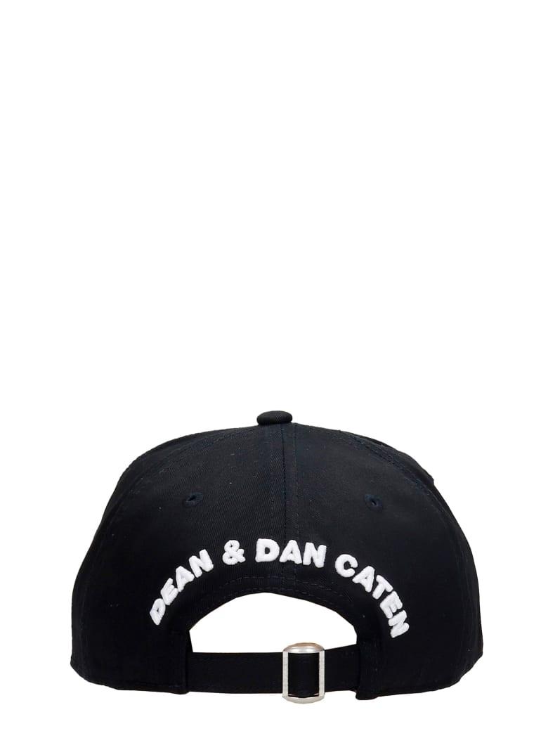 Dsquared2 Hats In Black Cotton - Nerobianco