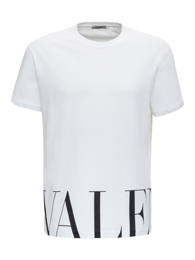 Valentino Macro Logo Tee - White