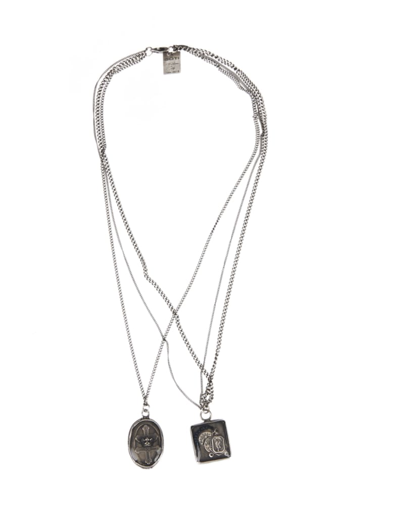 Goti Necklace With Pendants - Silver