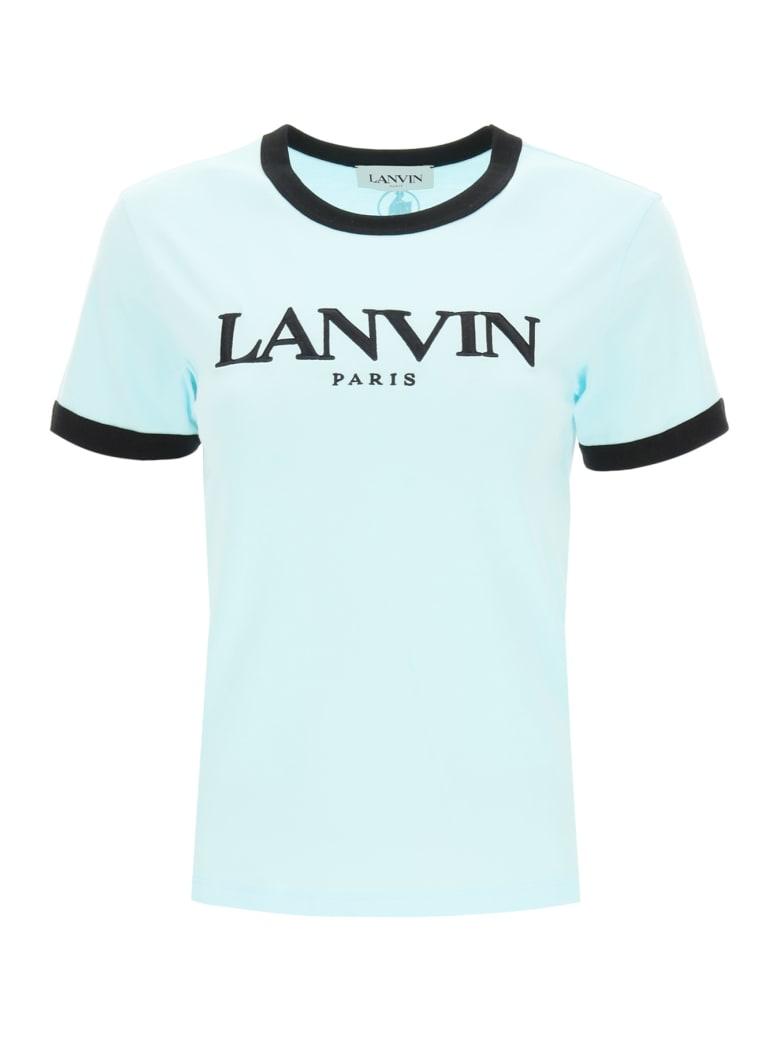 Lanvin T-shirt Logo Embroidery - BLUE