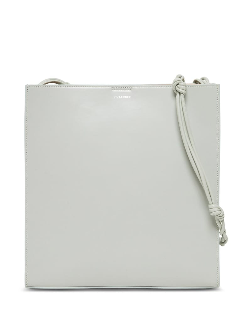 Jil Sander Tangle Crossbody Bag In Sage Colored Leather - Green