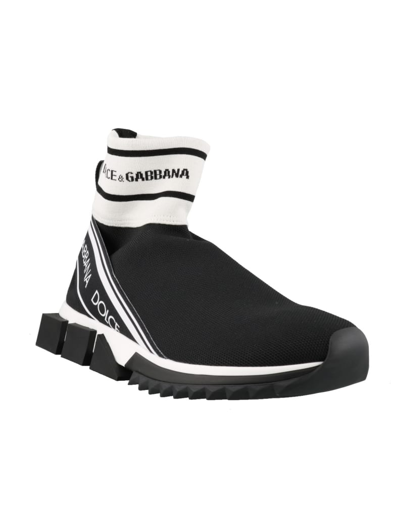Dolce & Gabbana High Top Sorrento Sneakers - Black