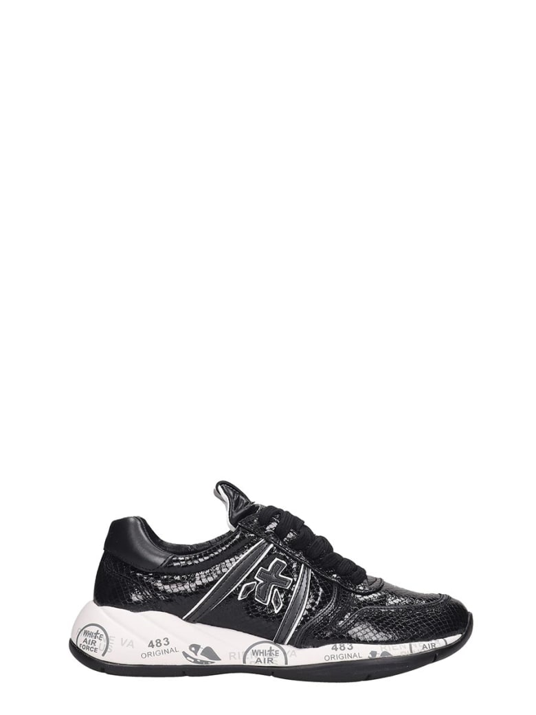 Premiata Layla Sneakers In Black Tech/synthetic - black