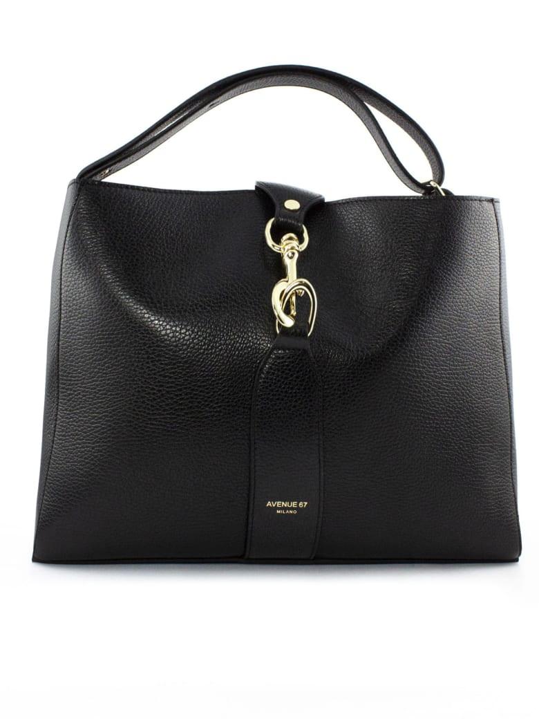 Avenue 67 Annetta Black Leather Bag - Nero