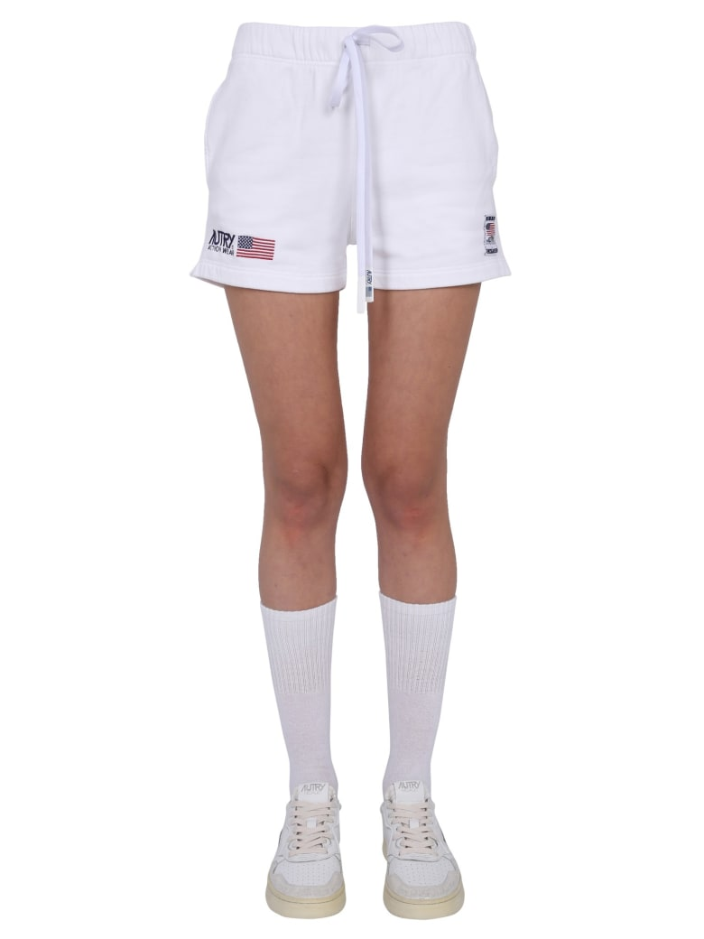 Autry Shorts With Logo - BIANCO