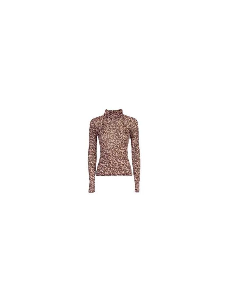 Nanushka Sweater L/s Jersey Fantasy - Graphic Animal Latte