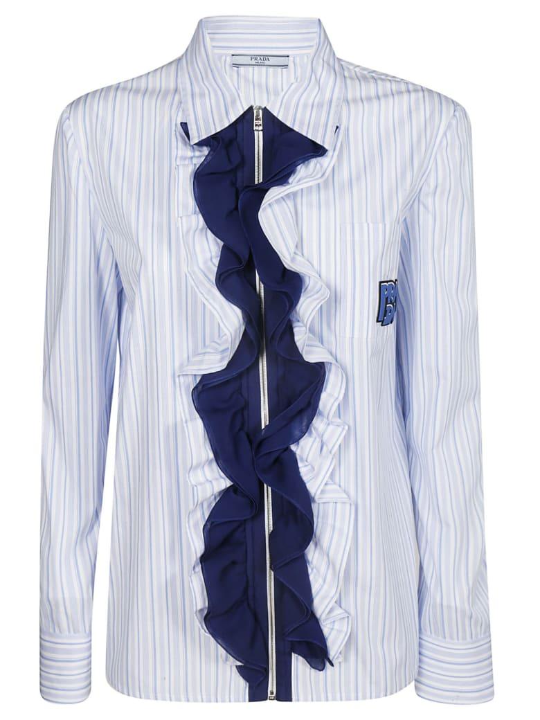 Prada Ruffled Shirt - Azure