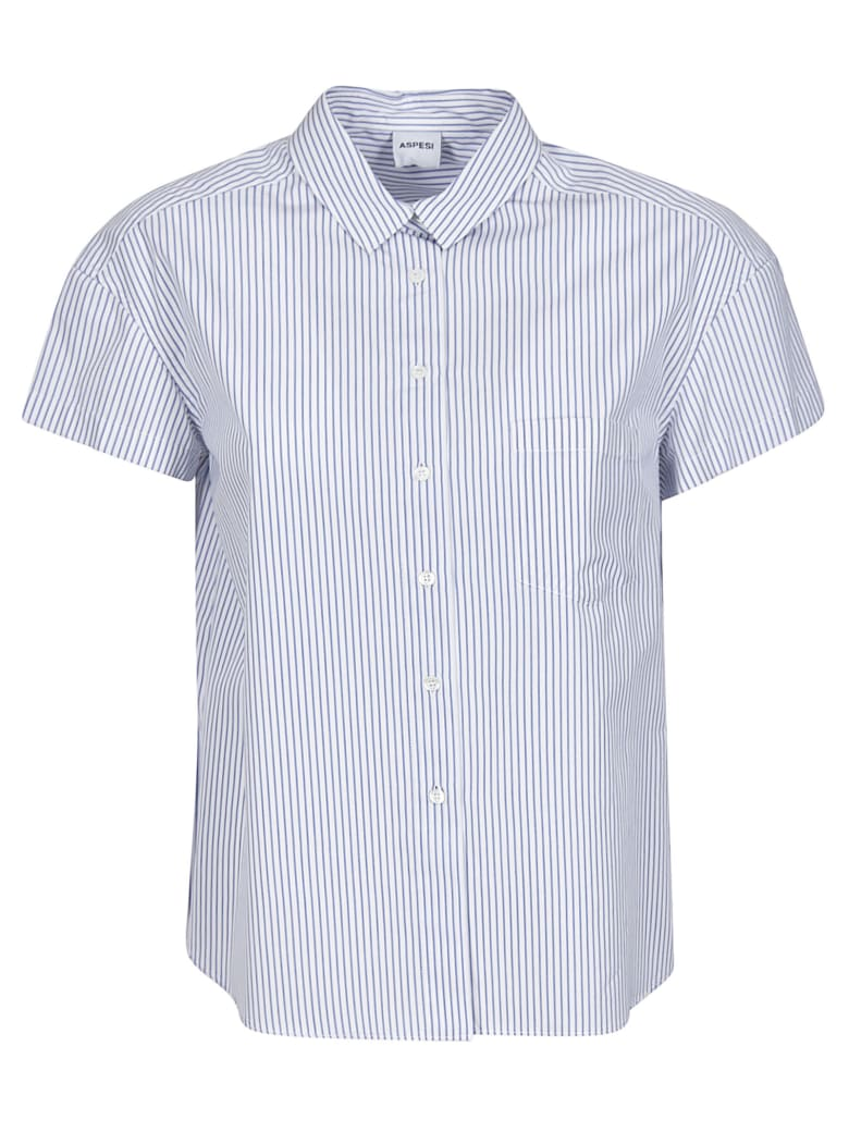 Aspesi Striped Shirt - Blue