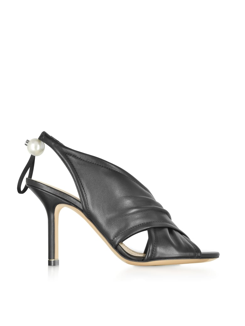 Nicholas Kirkwood Black Nappa 90mm Delfi Sandals - Black