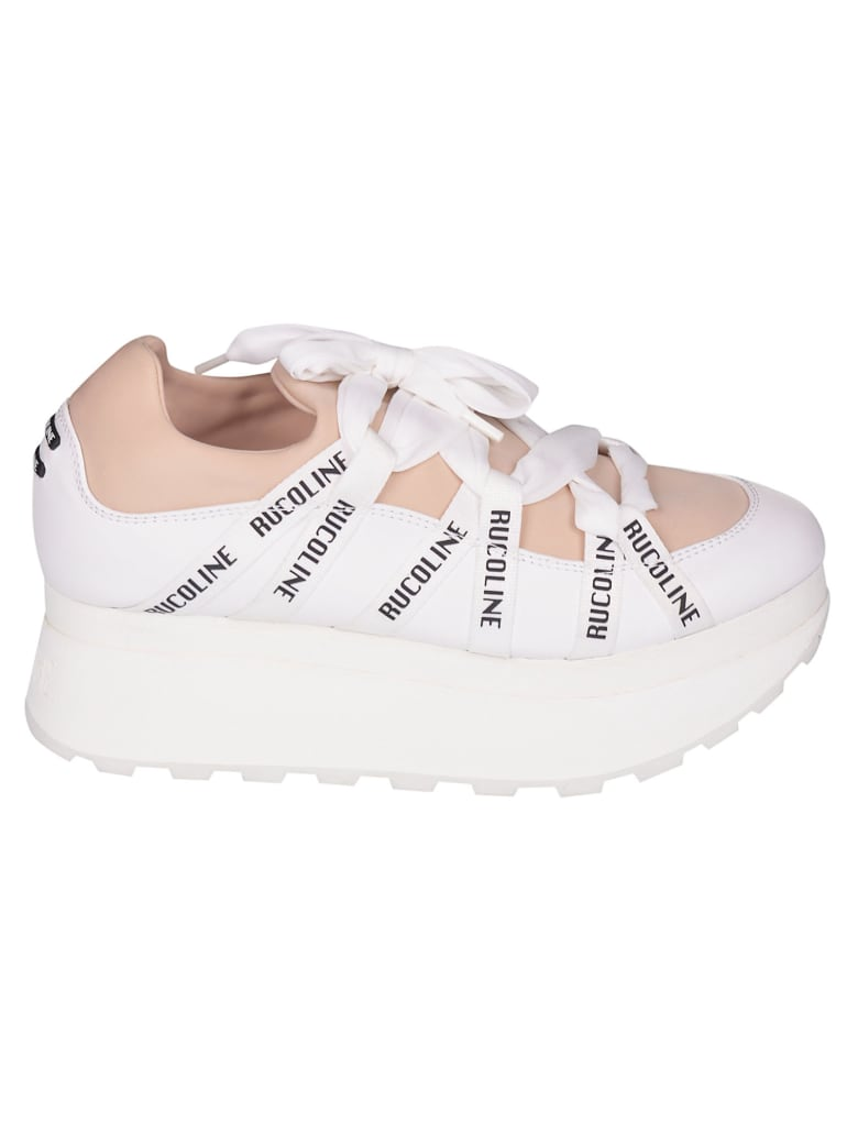 Ruco Line Logo Platform Sneakers - Nude
