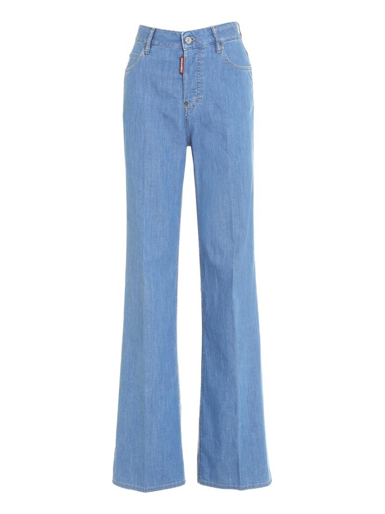 Dsquared2 Bohemian Wide Leg Jeans - Denim