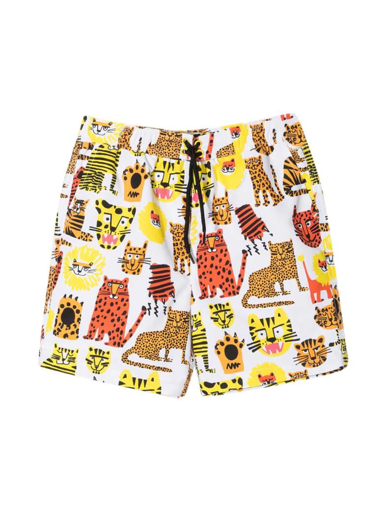 Stella McCartney White Bermuda Shorts - WHITE/YELLOW