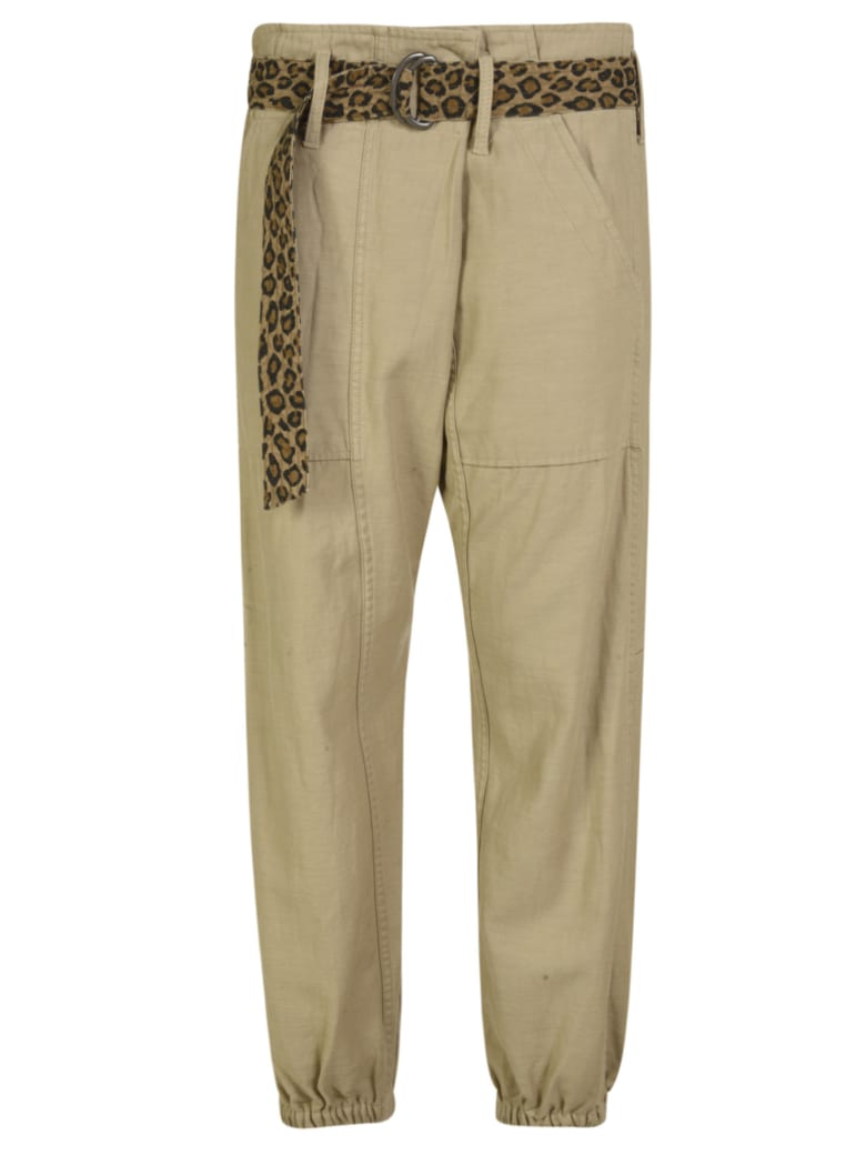 R13 Crossover Utility Drop Trousers - Beige