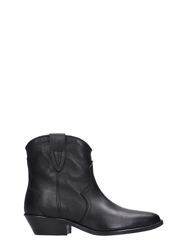 The Seller Ankle Boots In Black Leather - black