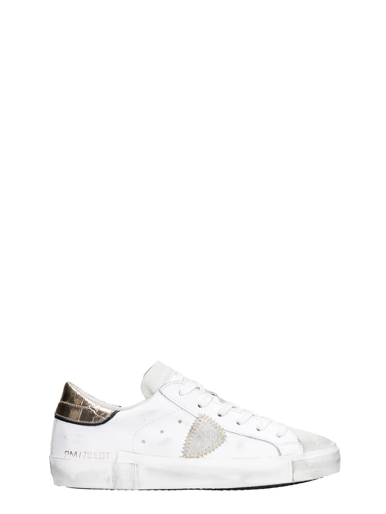 Philippe Model Prsx L Sneakers In White Leather - white