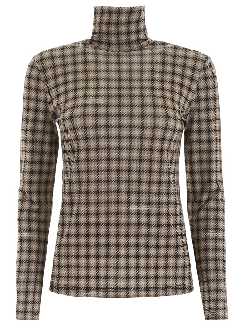 Rokh Houndstooth Turtleneck - MULTI (Grey)