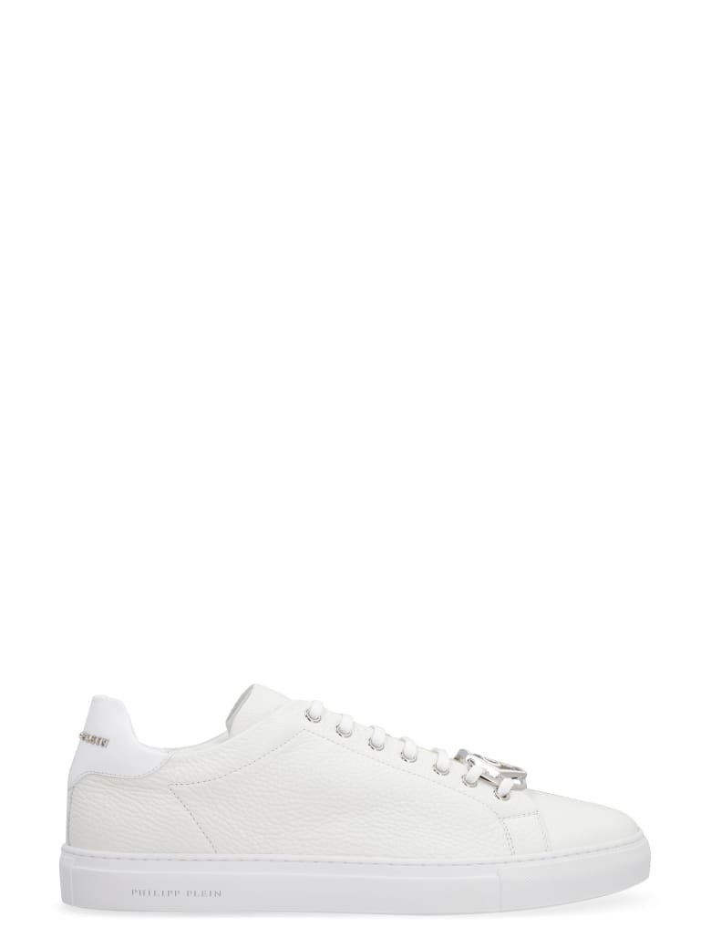 Philipp Plein Leather Low-top Sneakers - White