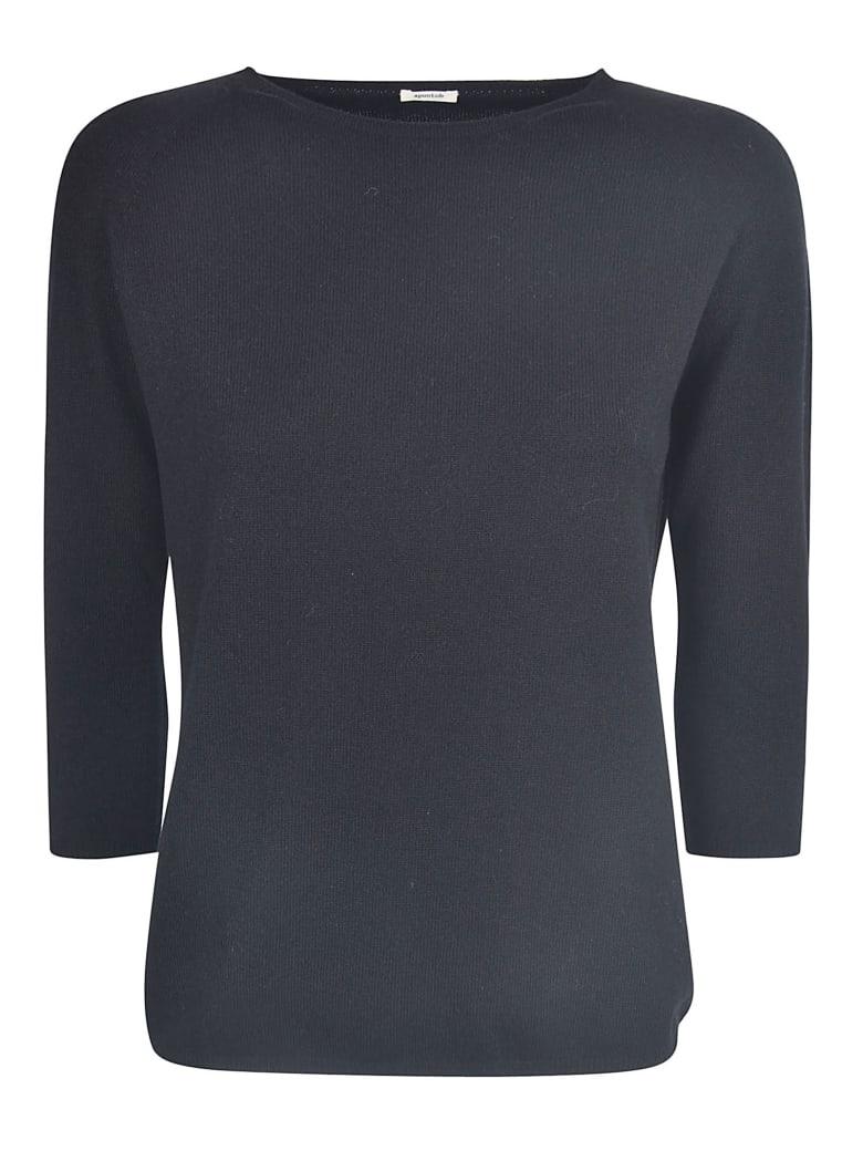 A Punto B Quarter-length Sleeved Sweater - Black