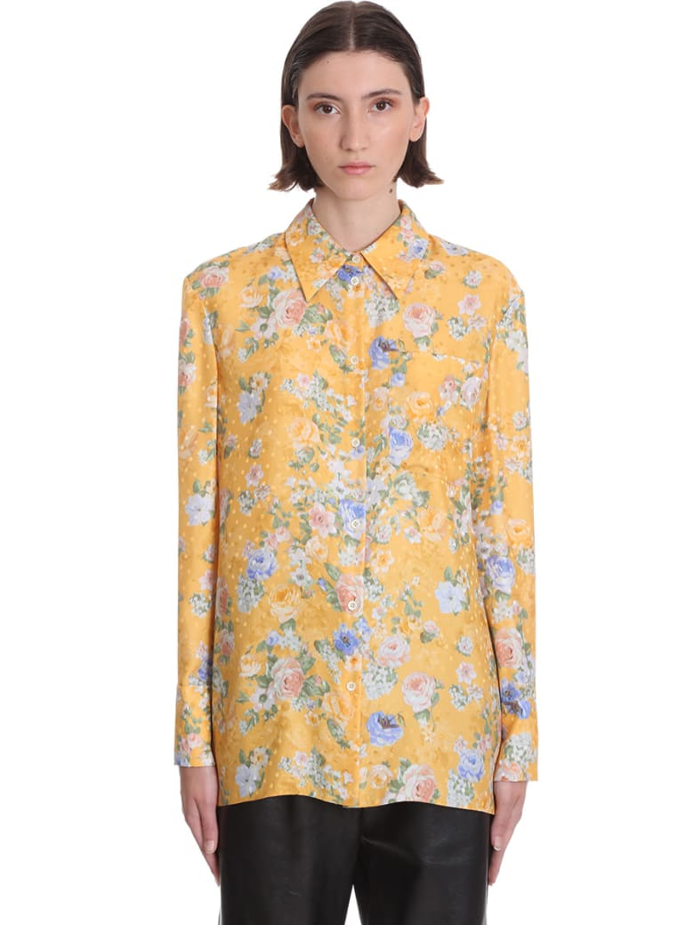 Magda Butrym Zolta Shirt In Yellow Silk - yellow