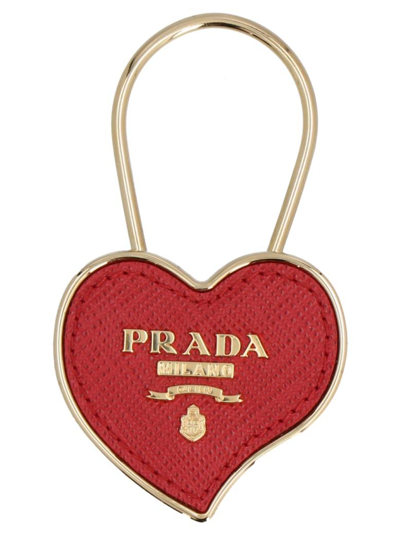 Prada 'heart' Keyring - Red
