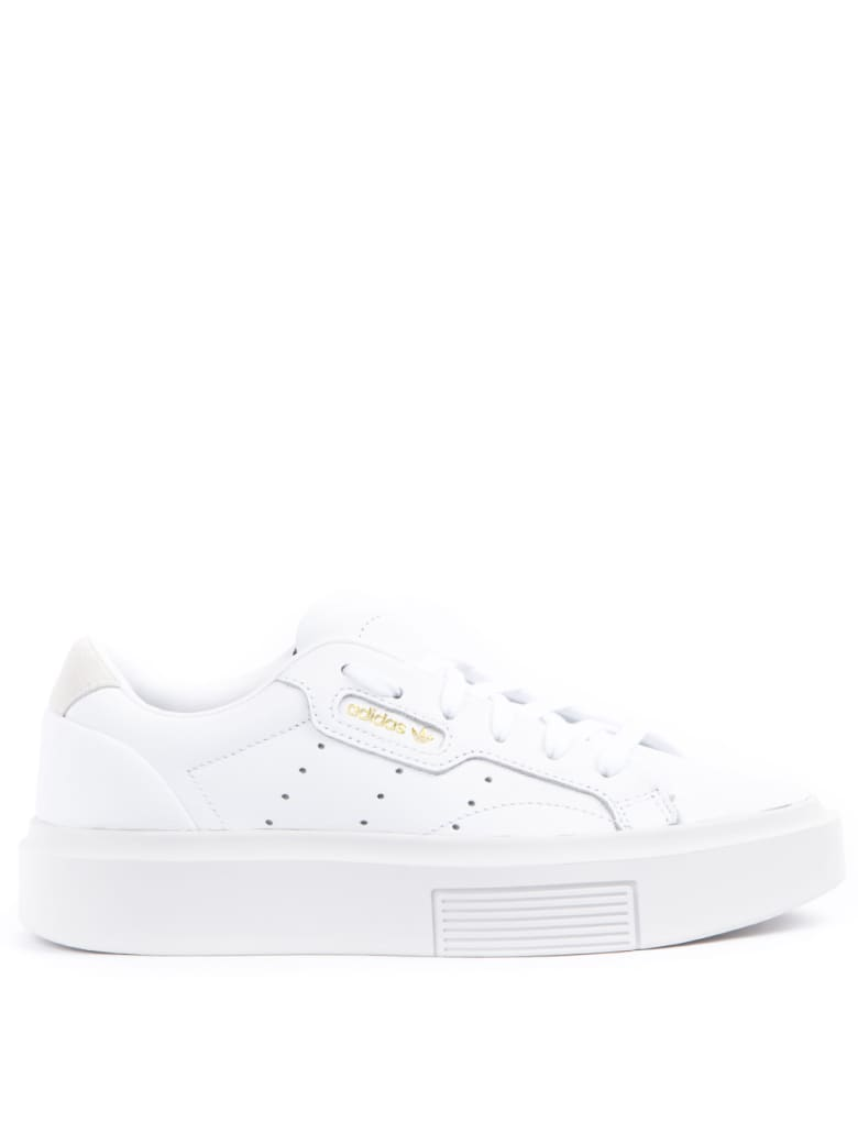 Adidas Originals Sleek Super White Leather Sneakers - White