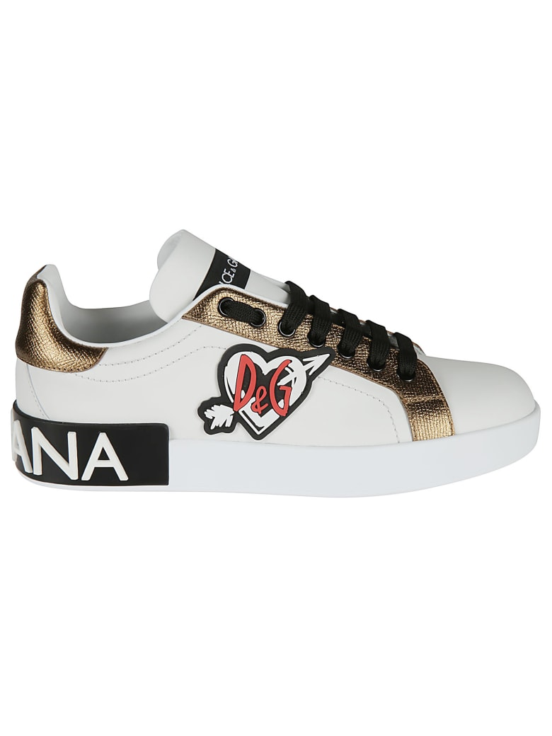 Dolce & Gabbana Patched Sneakers - black