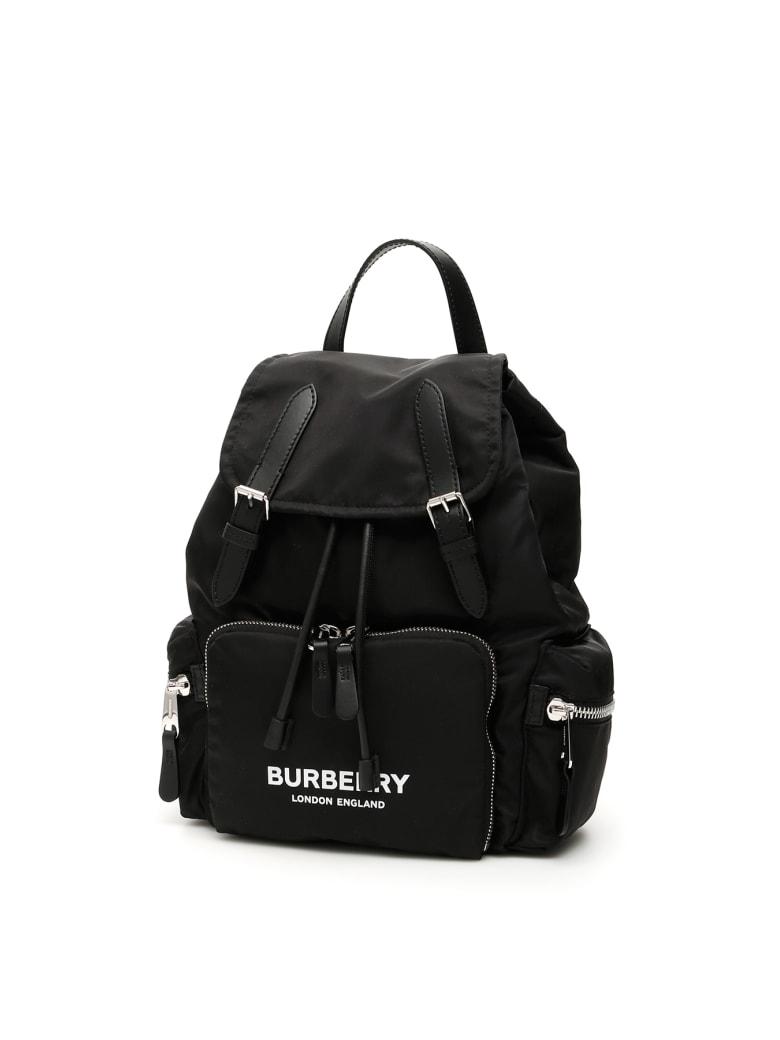 Burberry The Rucksack With Logo - Nero