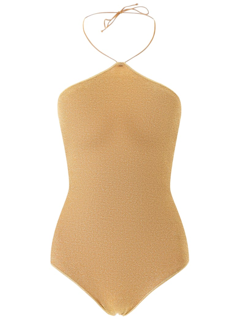 Oseree Maillot Lumiere Neckless Swimsuit - Gold