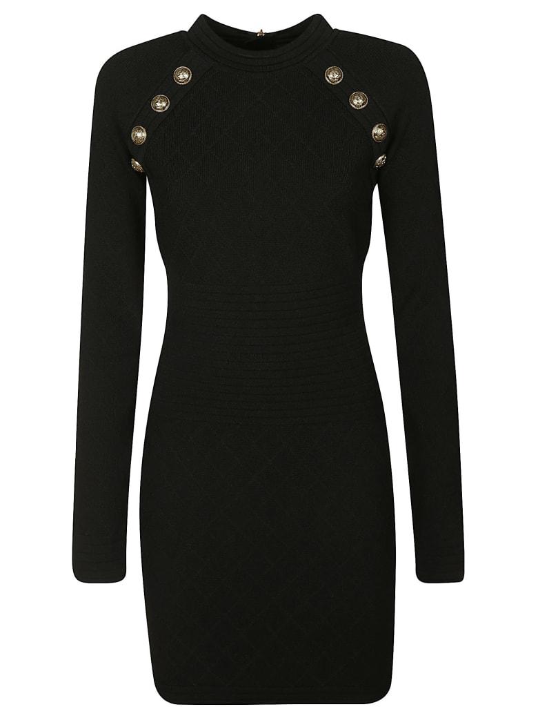 Balmain Button-embellished Dress - Black