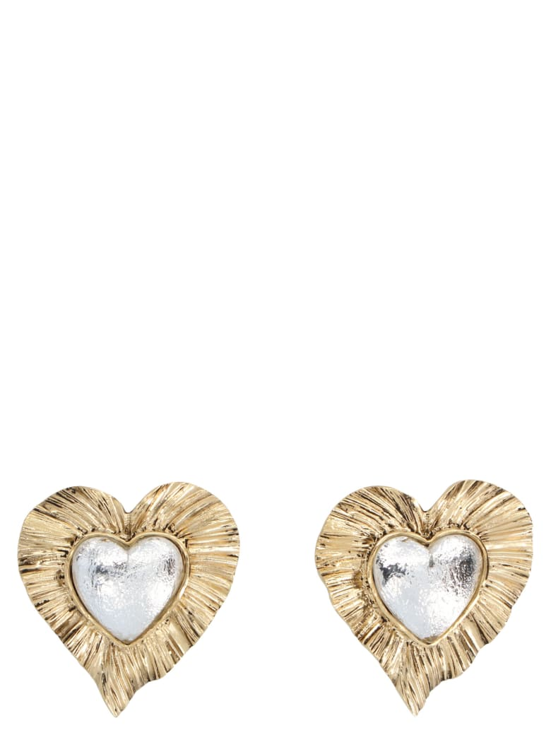 Saint Laurent 'heart' Earrings - Multicolor