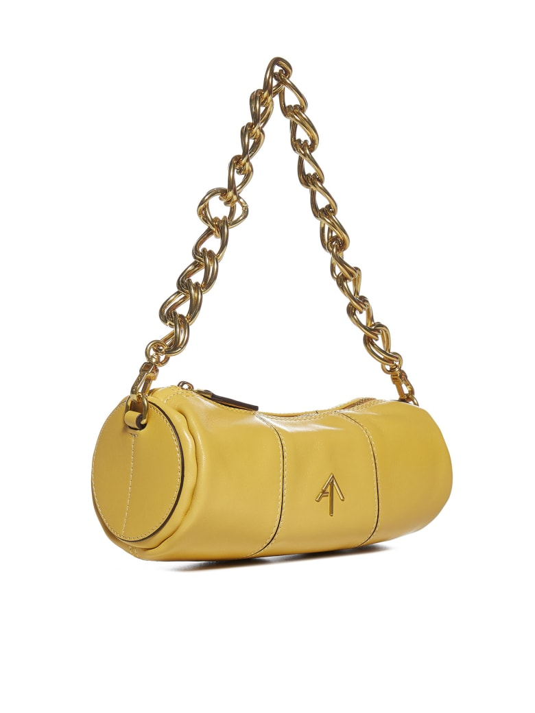 MANU Atelier Xx Mini Cylinder Leather Bag - Lemon sorbet