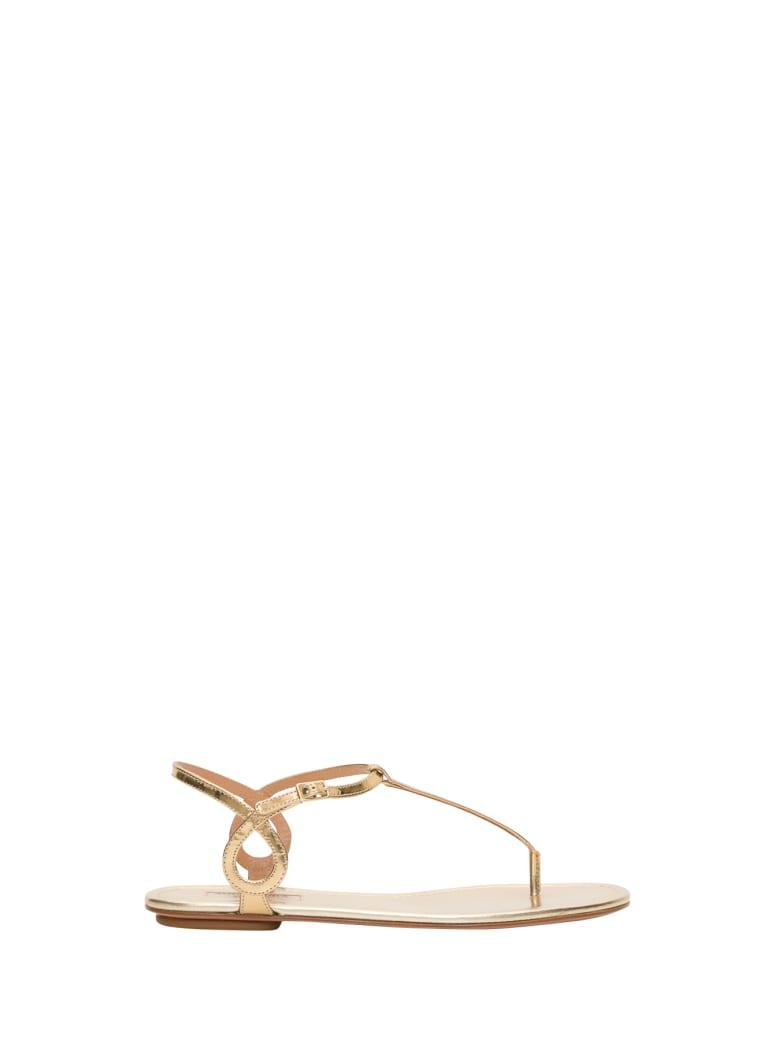 Aquazzura Almost Bare Sandals - Oro