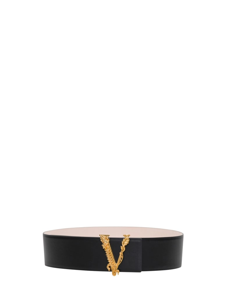 Versace Virtus Belt - Black