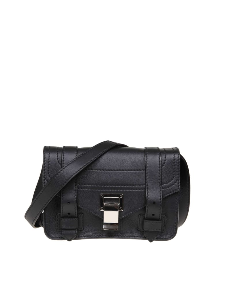 118d8a7ba750 Proenza Schouler Ps1 Mini Shoulder Bag In Black Leather