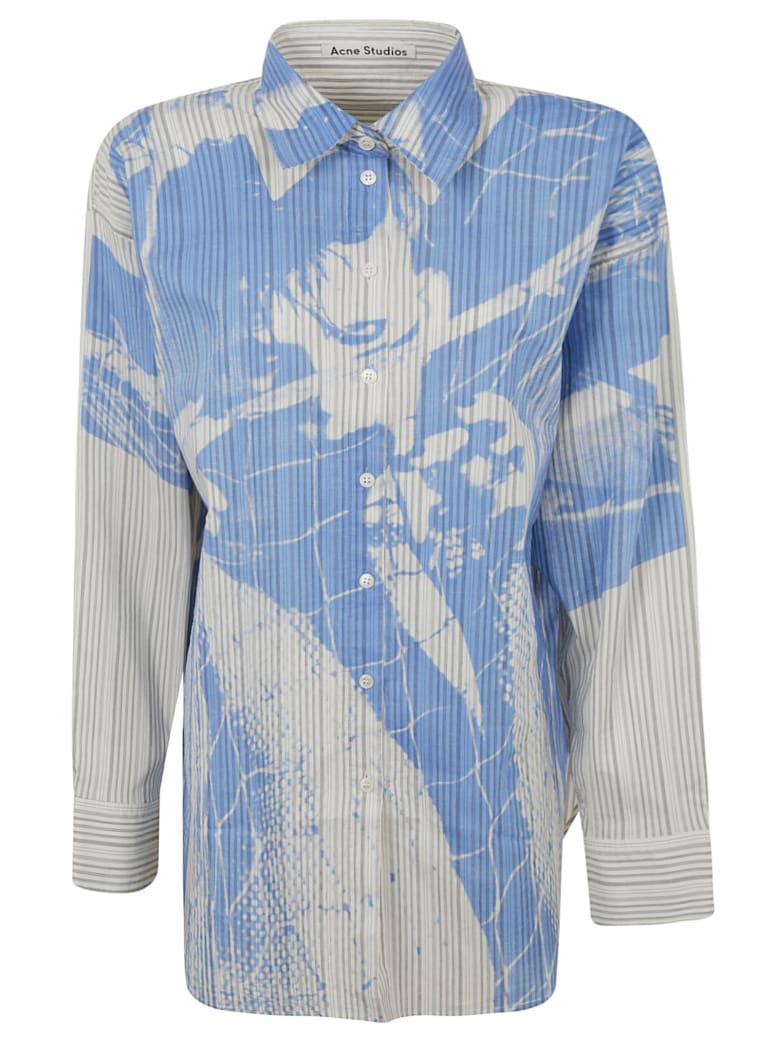 Acne Studios Graphic Print Shirt - White/Blue