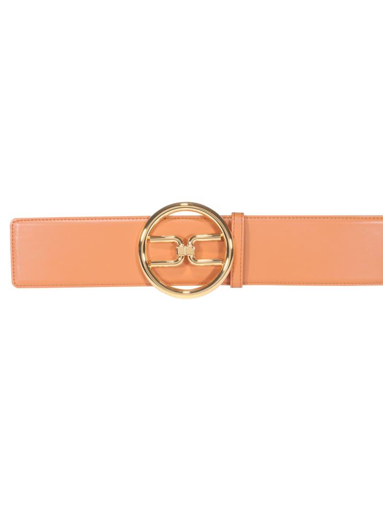 Elisabetta Franchi Logo Buckle Belt - Cuoio