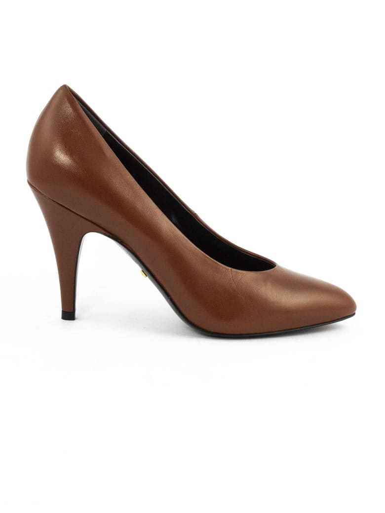 Gucci Brown Leather Pumps - Cuoio