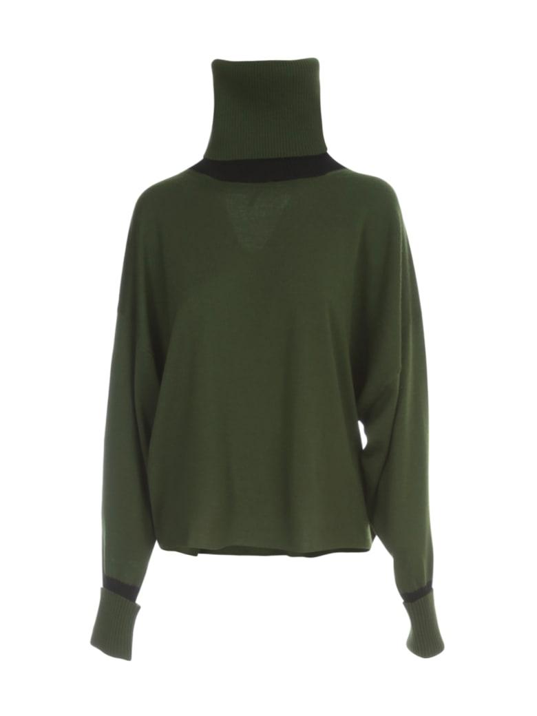 PierAntonioGaspari Short Turtle Neck Sweater Bicolour - Prato Nero