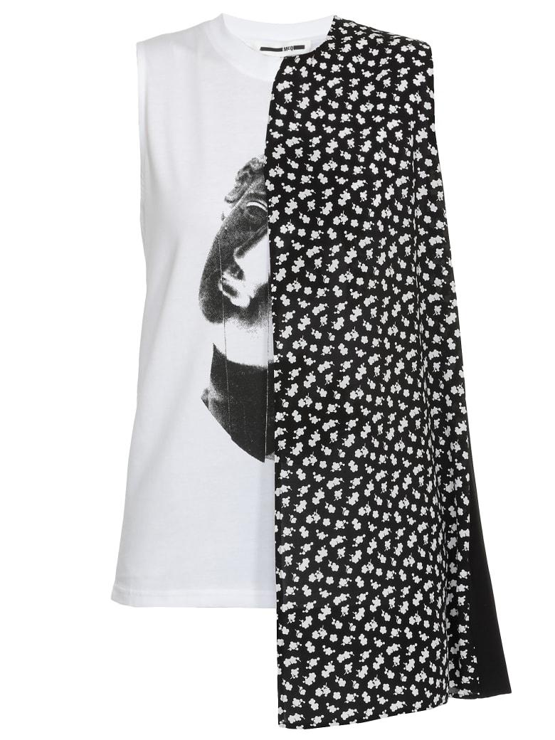 McQ Alexander McQueen Asymmetric Top - OPTIC WHITE