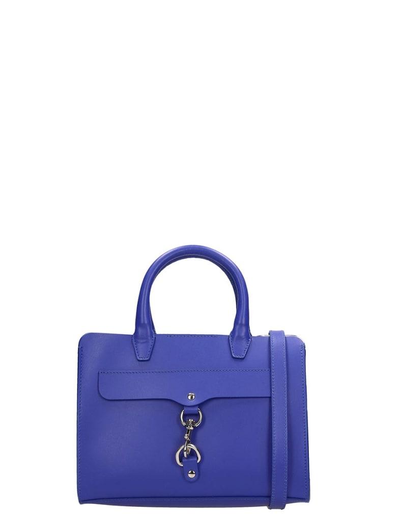 Rebecca Minkoff Blue Leather Mini Satchel Bag - blue