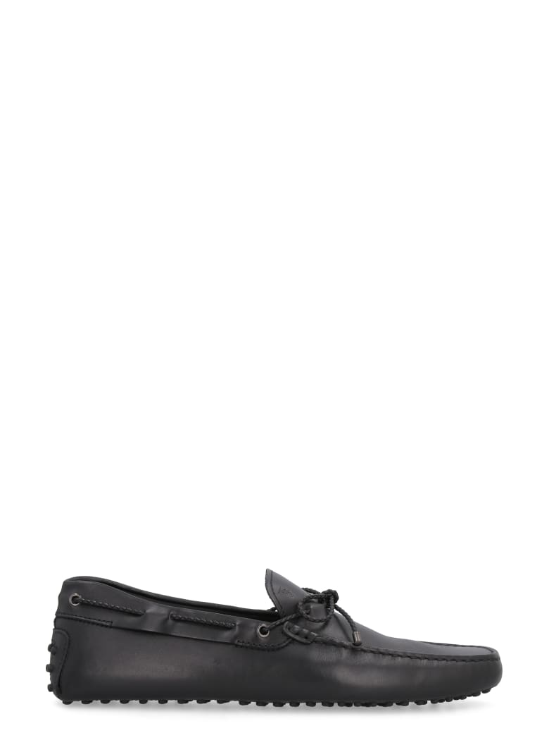 Tod's Gommino Leather Loafers - black